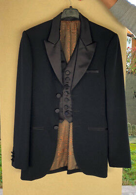 Jean Paul Gaultier Classique Paris Giacca Nera Taglia 44 Made In Italy **note**