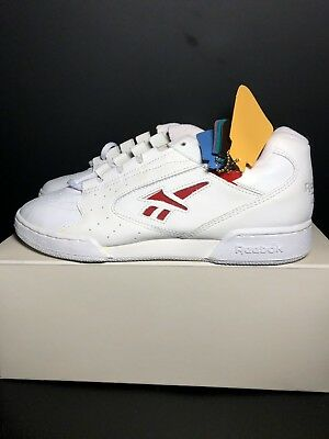 Vintage 90s Reebok Classic Cheerleader Low Color Insert Multicolor White  Leather 4968c284b