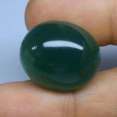 Big! 44.54ct 24x20.2mm Oval Cabochon Natural Green Chalcedony, Brazil