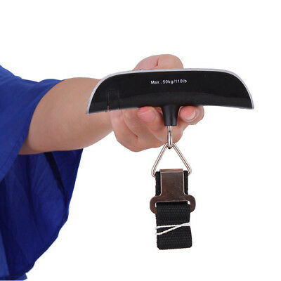 Portable Travel Luggage Scale LCD Digital Hanging Electronic Weight 110lb/50kg~