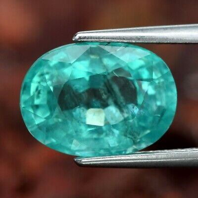 2.48ct 9.3x6.8mm Oval Natural Unheated Paraiba-Color Neon Green Apatite