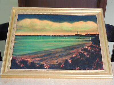 Glazed Oil on Panel Painting of Provincetown Rhode Island by Robert Orfant
