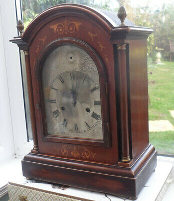HAC ANTIQUE GERMAN BRACKET 8 DAY MANTLE CLOCK  19th Century