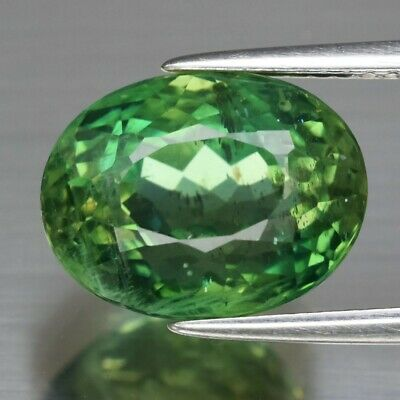 6.76ct 12x9.2mm Oval Natural Unheated Green Apatite, Brazil