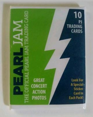 Pearl Jam Seattle Trading Cards Sealed Brand New 2018 The Home Shows