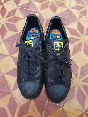 save off 50c99 a5132 Original Adidas Superstar Pharrell Supershell Sz 11 Energy Core Black Yellow
