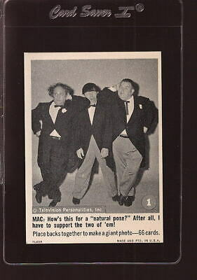 1966 Fleer The Three Stooges #1 Larry Moe And Curly Natural Pose Nm *151743