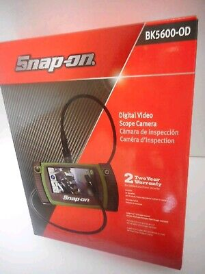 Snap-On Tools BK 5600 OD Color Digital Video Scope Camera Complete in Box