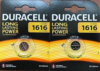2x Duracell CR1616 3V Lithium Coin Cell Batteries CR1616/DL1616 Battery - New