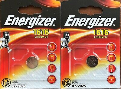2 x Energizer CR1616 3V Lithium Coin Cell Battery DL1616 BR1616
