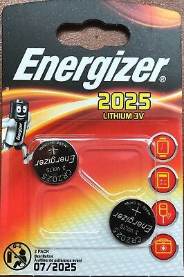 2x Energizer CR2025 3V Lithium Coin Cell Battery DL 2025 - Pack of 2 Brand New