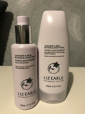 Liz Earle Lavender And Basil Hand Wash And Body Wash 200ml New