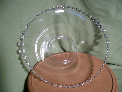 Large Imperial Glass Candlewick Bowl - 400/106B - Graduated Beads on the Sides