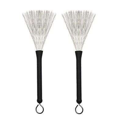 1 Pair Drum Brushes Retractable Wire Brushes Drums Drum Sticks Brush with C O5F5
