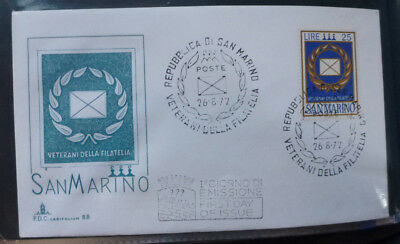 1972 San Marino Veterans Of Philately First Day Cover
