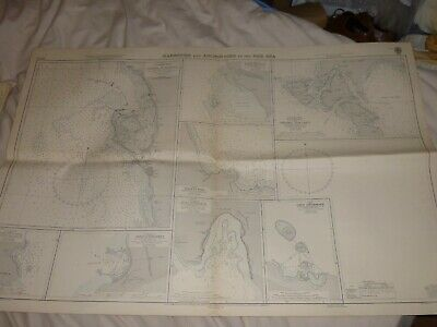Vintage GB Admiralty Chart, HARBOURS & ANCHORAGES IN THE RED SEA c.1962.