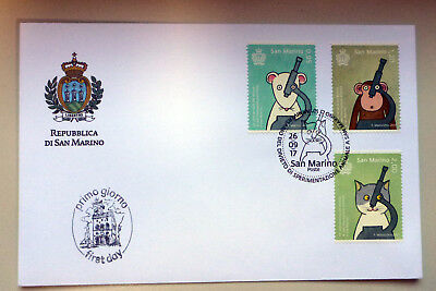 2017 San Marino Animal Testing Prohibition 3 Stamps First Day Cover
