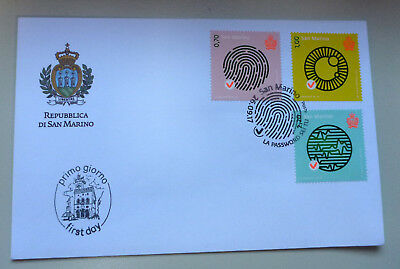 2017 San Marino Password Set 3 Stamps  First Day Cover