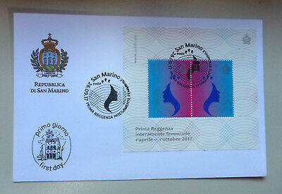 2017 San Marino Female Regency Mini Sheet First Day Cover