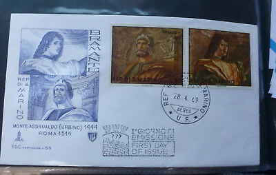 1969 San Marino Paintings 2 Stamps First Day Cover