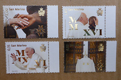 2016 San Marino Set Of 4 Jubilee Of Mercy Mint Stamps Mnh
