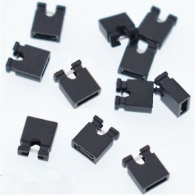 10 X Jumper Cap For Electronic Boards pcb Breadboard Short Box Switch Black UK