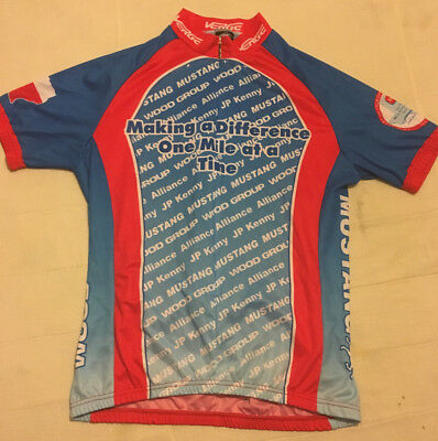 Womens Red   Blue Verge Sport XL Extra Large 3 4 Zip Cycling Jersey Shirt 811cafc44