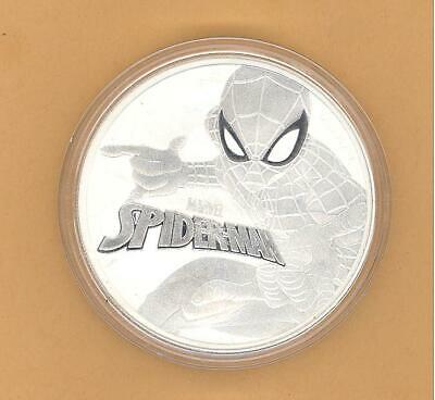 Spider-Man Homecoming 2017 Silver Dollar $1 Pure .9999 Troy Ounce Tuvalu Rare