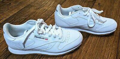 82581ff897b Reebok Classic Leather Boys  Grade School White Gum V69624 Excellent  Condition