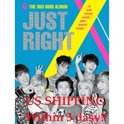 US SHIPPING GOT7-[JUST RIGHT] 3rd Mini Album CD+Booklet+PhotoCard+Polaroid+Gift