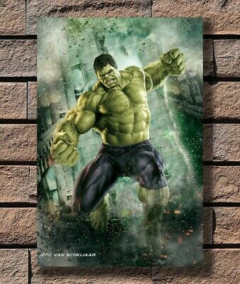 Art Poster 24x36 27x40 - Hulk - The Avengers Marvel Superheroes Movie T-1387