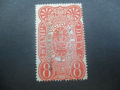 Victoria Stamps: £8 Stamp Duty Used  (o231)