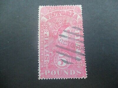 Victoria Stamps: £5 Postally Used Stamp Duty Used  (o234)