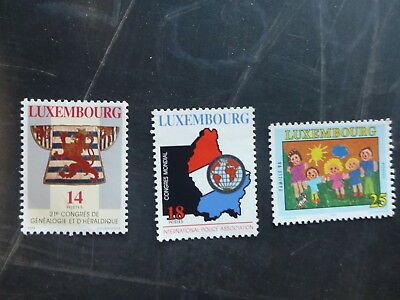 1994 Luxembourg Congress Of Geneology Set 3 Mint Stamps Mnh