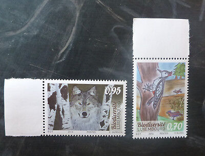 2016 Luxembourg Biodiversity Childs Drawings Set Of 2 Mint Stamp Mnh