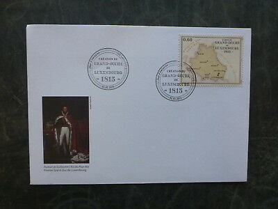 2015 Luxembourg Grand Duchy Fdc First Day Cover