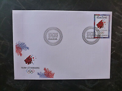 2016 Luxembourg Rio Olympic Games Stamp Fdc First Day Cover