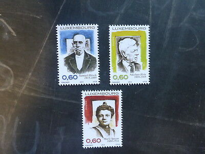 2014 Luxembourg Personalities Set 3 Mint Stamps Mnh