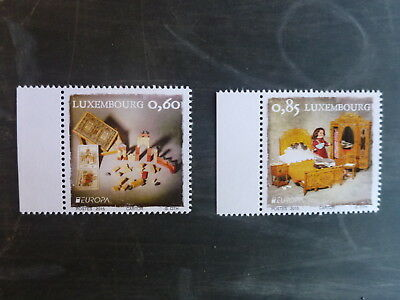 2015 Luxembourg European Toys Set Of 2 Mint Stamps Mnh