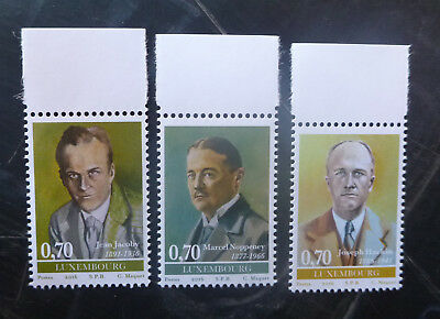 2016 Luxembourg Personalities Set Of 3 Mint Stamps Mnh