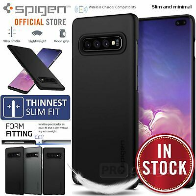 Samsung Galaxy S10 5G S10e S9 S8 Plus Case Genuine SPIGEN Thin Fit Hard Cover
