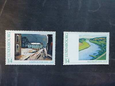 1994 Luxembourg Artists Set 2 Mint Stamps Mnh