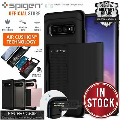 Galaxy S10/Plus/S10e Case Genuine SPIGEN Slim Armor CS Card Cover for Samsung