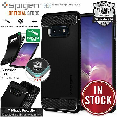 Galaxy S10e Case, Genuine SPIGEN Rugged Armor Slim Soft Cover for Samsung