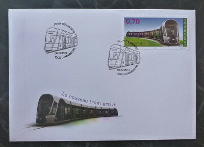 2017 Luxembourg Tramway  Fdc First Day Cover