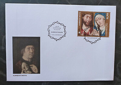 2016 Luxembourg Paintings Albrecht Bouts Set Of 2 Stamps Fdc First Day Cover