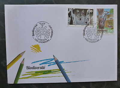 2016 Luxembourg Biodiversity Childs Drawings Set Of 2 Stamps Fdc First Day Cover