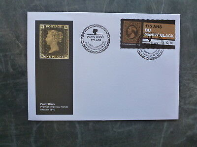 2015 LUXEMBOURG PENNY BLACK 175th ANNIV FDC FIRST DAY COVER