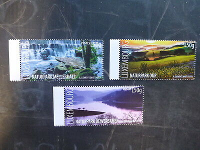 2015 Luxembourg Natural Reserves Set Of 3 Mint Stamps Mnh