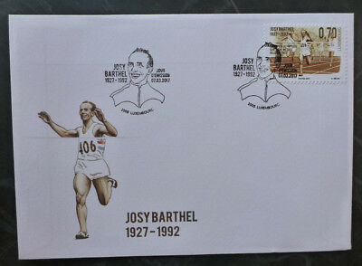 2017 Luxembourg Josy Barthel Anniv. Fdc First Day Cover